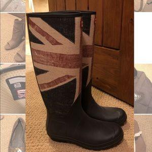Hunter British Flag Rain Boots
